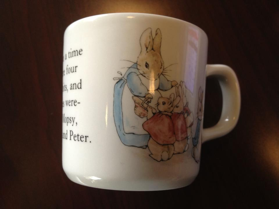 Beatrix Potter Wedgwood China Peter Rabbit Baby Cup (c. 2007): 36,000 ppm Lead