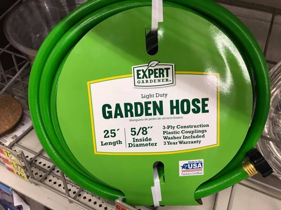 expert gardener light duty garden hose new on shelf 2017 in walmart made - Walmart Garden Hose