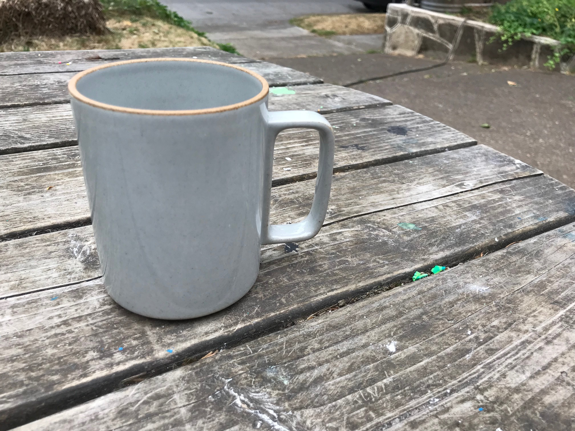 Hasami Porcelain Made In Japan Ceramic Mug: Glazed Surface = Non-Detect for Lead, Unglazed Substrate = 30 ppm Lead (safe by all standards.)