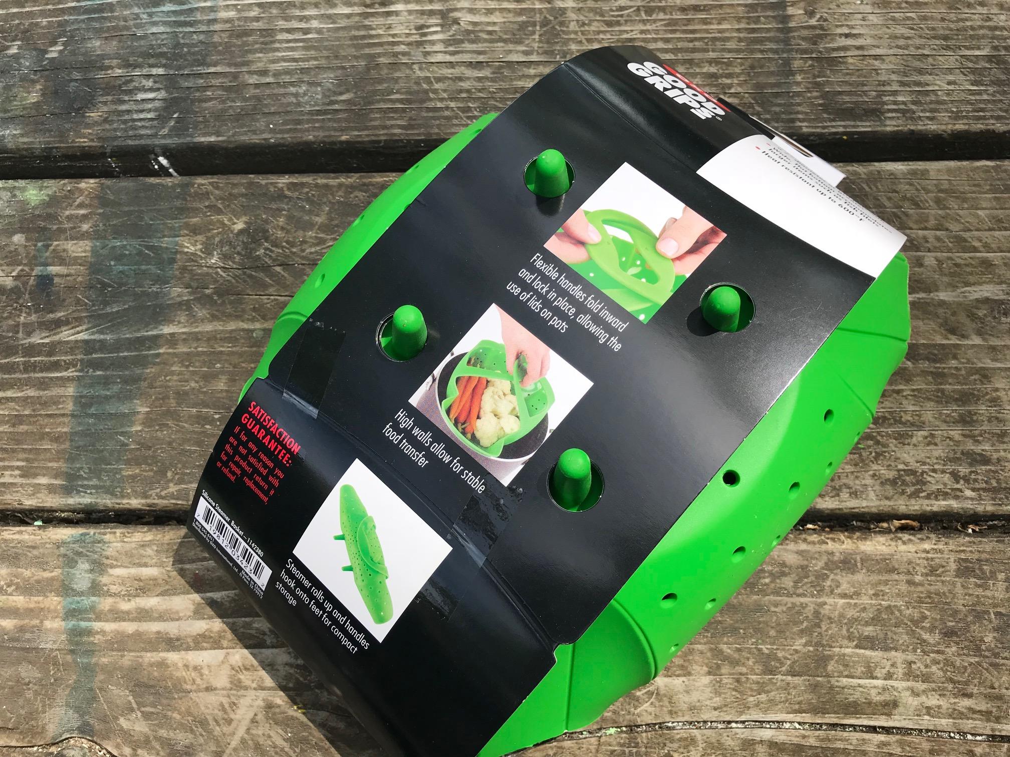2018 OXO Good Grips Green Silicone Steamer Basket