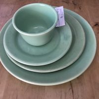 Bauer Los Angeles Vintage Celadon Ceramic Dishes Tamara Rubin Lead Safe Mama 1