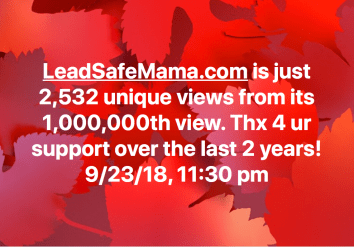 Tomorrow (9/24) this website will likely hit 1,000,000 unique views ever! Thank you!