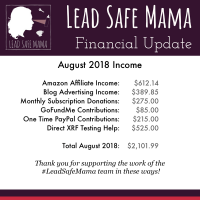Lead Safe Mama Financial update August 2018