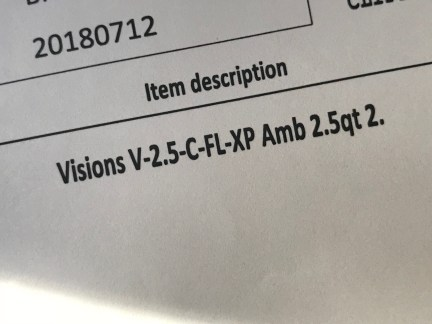 #Leaded: Newly Purchased (2018) Corelle / Corning Visionware Amber Lid - XRF Test Results