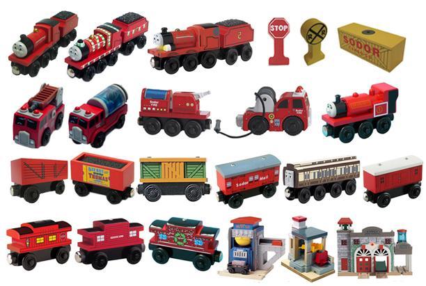 Two Yellow Cargo Loads Loose Brand New Thomas Wooden Railway Train