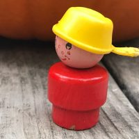 Vintage Little People Pan Head Red Boy Lead Safe Mama 2