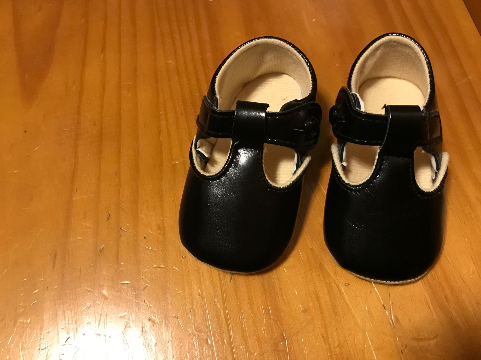 Off-Brand Faux Leather Black Button Up Baby Shoes: 3,883 ppm Lead + 51 ppm Arsenic! [90 ppm Lead is unsafe for kids]