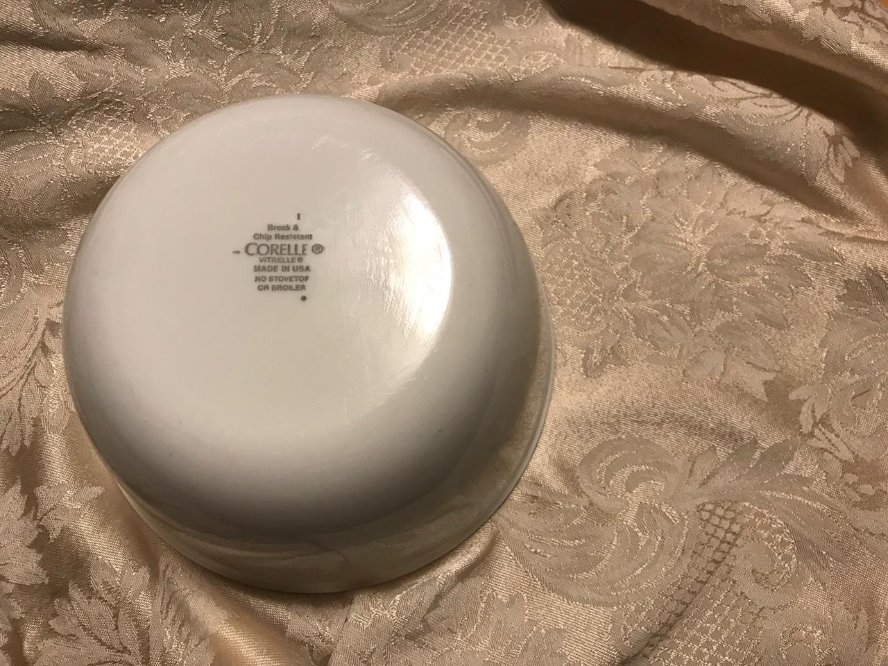 Corelle Vitrelle Plain White Bowl, Purchased New in 2017: Lead Free