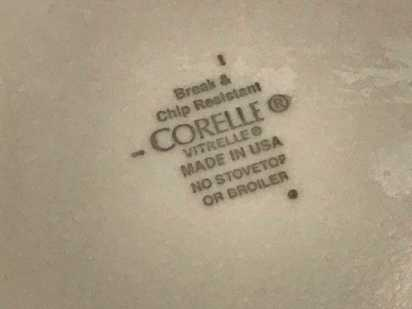 Corelle Vitrelle Plain White Bowl, Purchased New in 2017: Lead Free