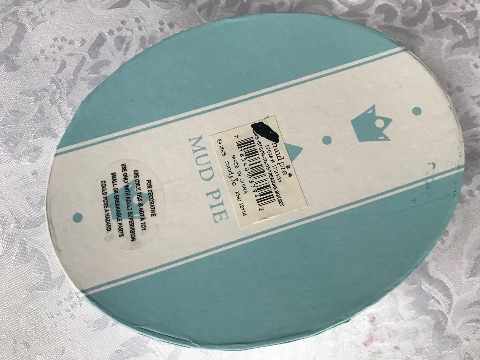 Mud Pie 2005 First Tooth First Curl Baby Treasure Box Set: 6,598 ppm Lead