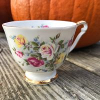 Queen Anne Country Gardens Bone China Teacup Lead Safe Mama 1