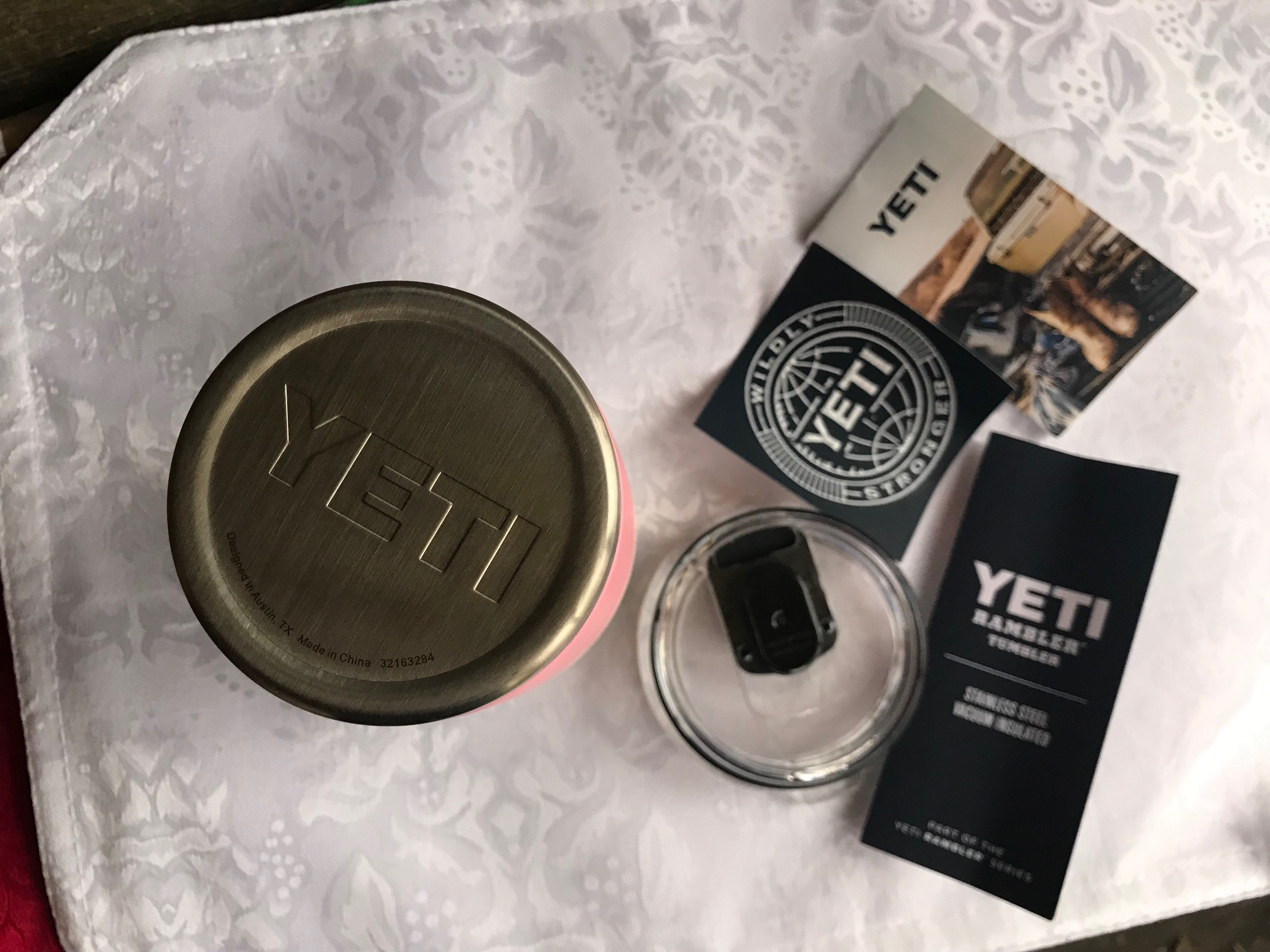 Pink Yeti Rambler 20 oz. Tumbler: Lead Free In All Accessible Components