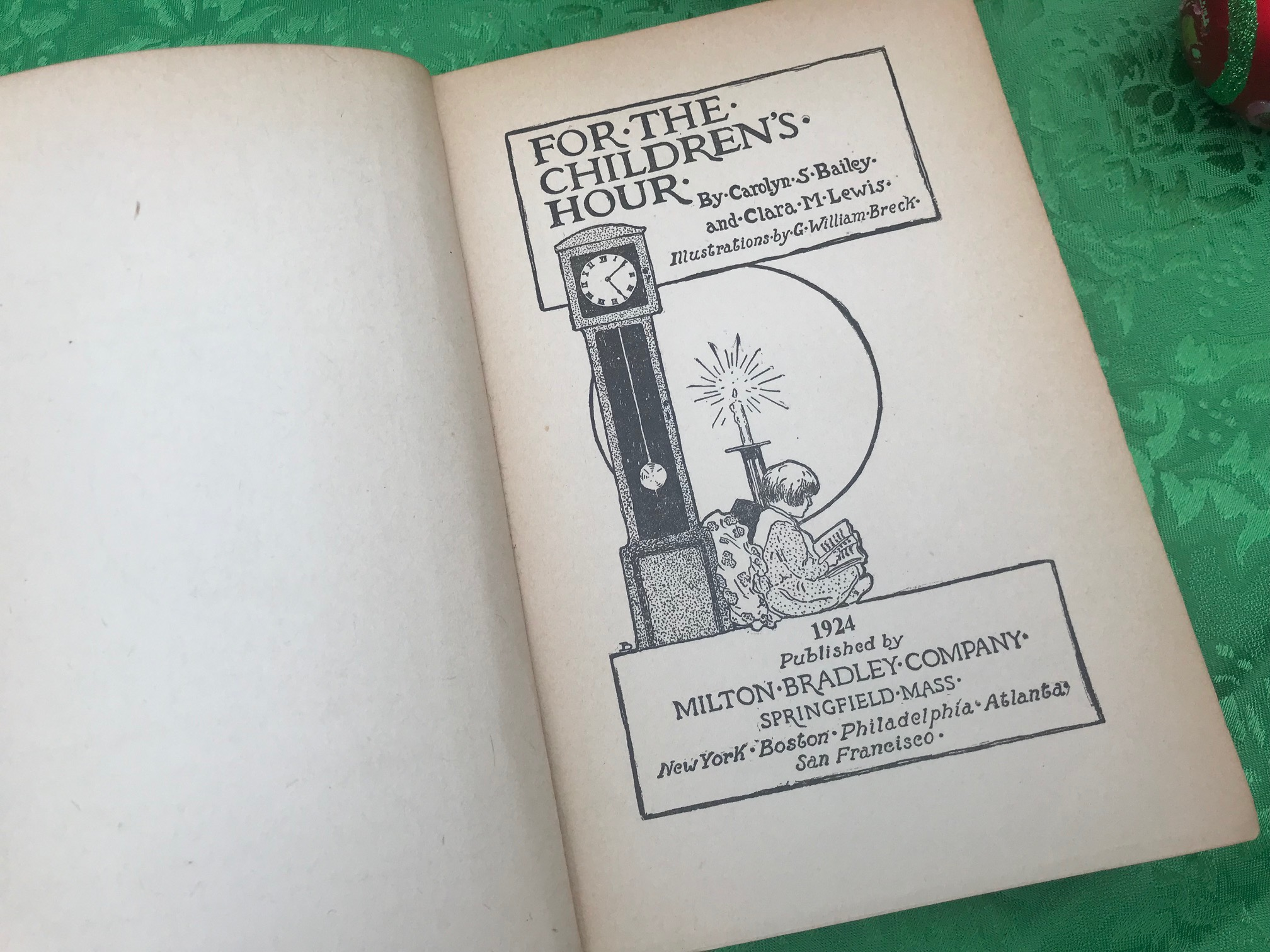 "1924 Hardcover Book, ""For The Children's Hour"": 640 +/- 24 ppm Lead"