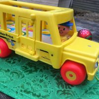 1984 Vintage Fisher Price Little People Yellow School Bus Lead Safe Mama 2