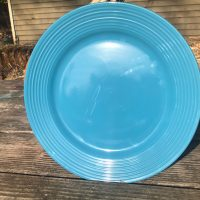 Dollar Tree Blue Ceramic Plate Royal Norfolk 2018 Lead Safe Mama 1
