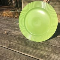 Dollar Tree Royal Norfolk Green Plate with Ridges 2018 Lead Safe Mama 1