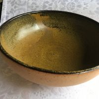 Handmade Brown Ceramic Bowl Lead Safe Mama 1