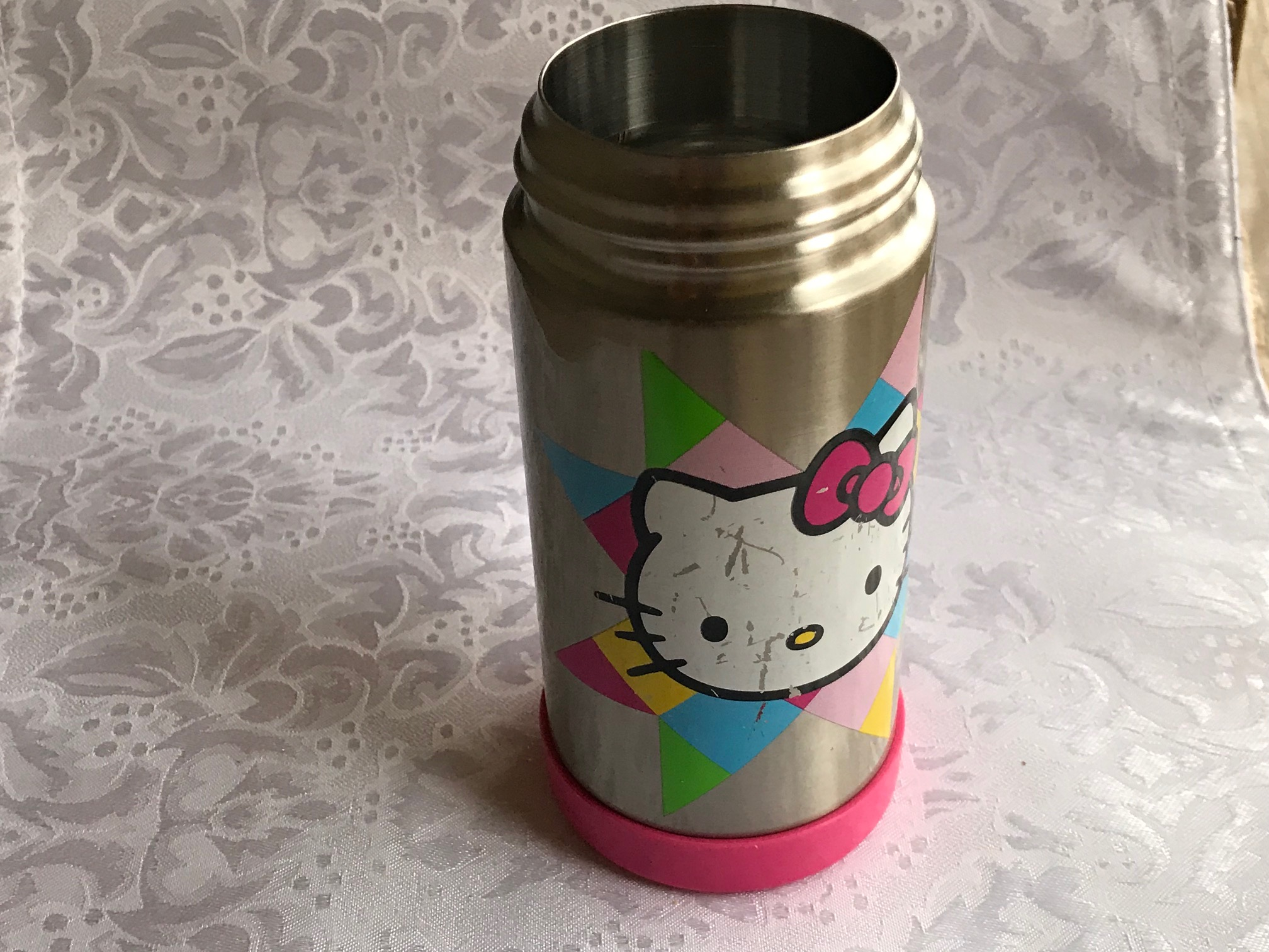 Hello Kitty Thermos Brand Child's Insulated Stainless Steel Water Bottle: Lead-Free in all accessible components.