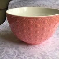 Pink Ceramic Bowl Lead Safe Mama 1