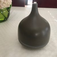 Brown Ceramic Saje Natural Wellness AromaGeni Deluxe Essential Oil Diffuser Lead Safe Mama 2