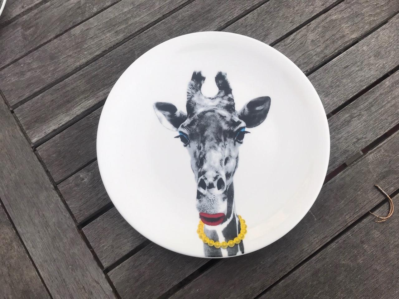 "New Wild Dining ""JustMustard"" Brand Giraffe Plate: 16,400 +/- 400 ppm Lead"