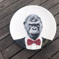 Wild Dining JustMustard Monkey Childrens Plate Lead Safe Mama 1