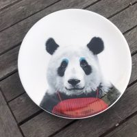 Wild Dining JustMustard Panda Childrens Plate Lead Safe Mama 1