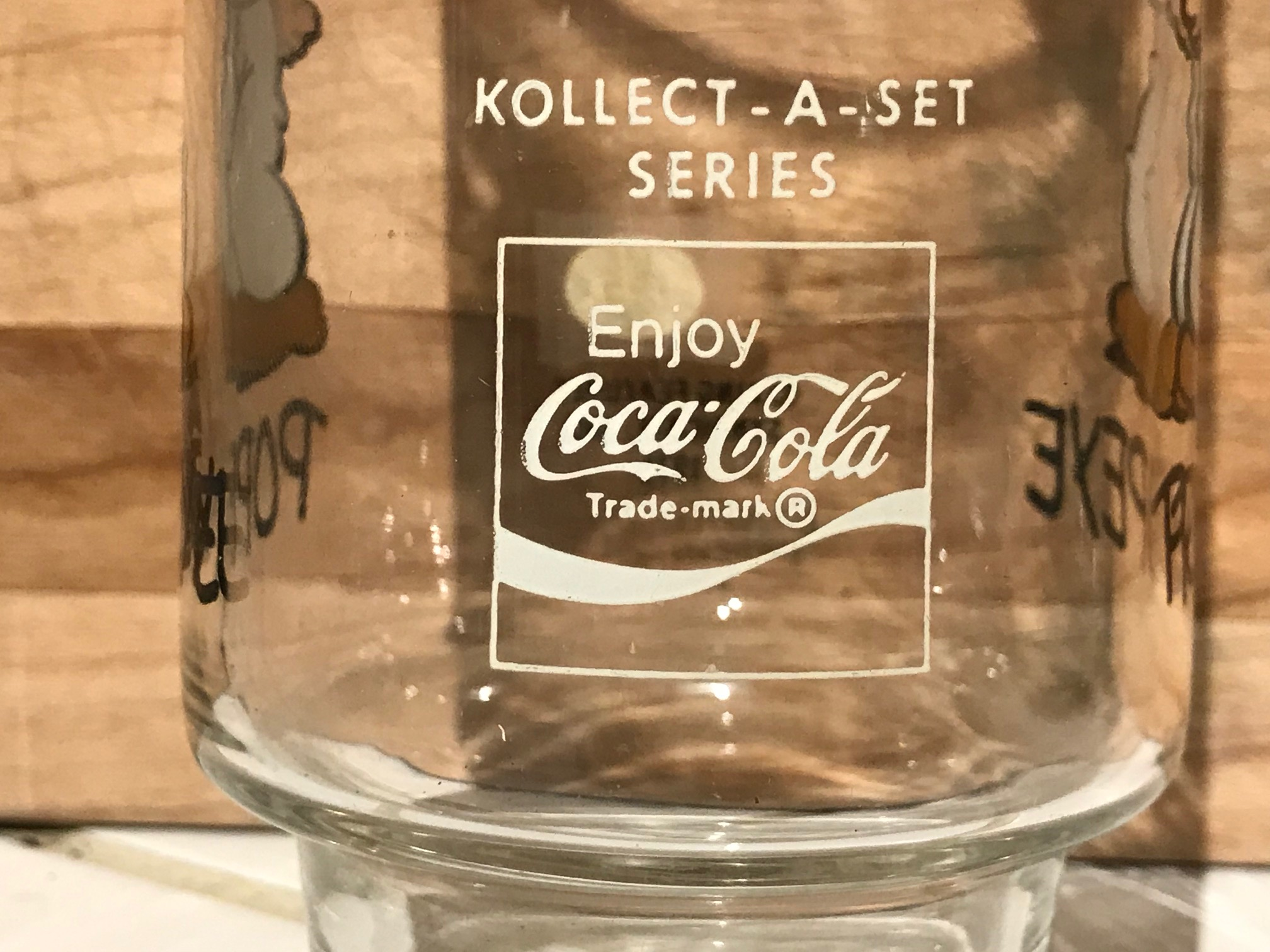 Vintage 1975 Kollect-A-Set Series Coca Cola Popeye Drinking Glass: 108,300 ppm Lead. [90 ppm is unsafe for kids.]