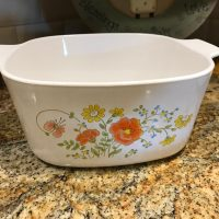 Corning Ware Vintage Floral Casserole Lead Safe Mama 1