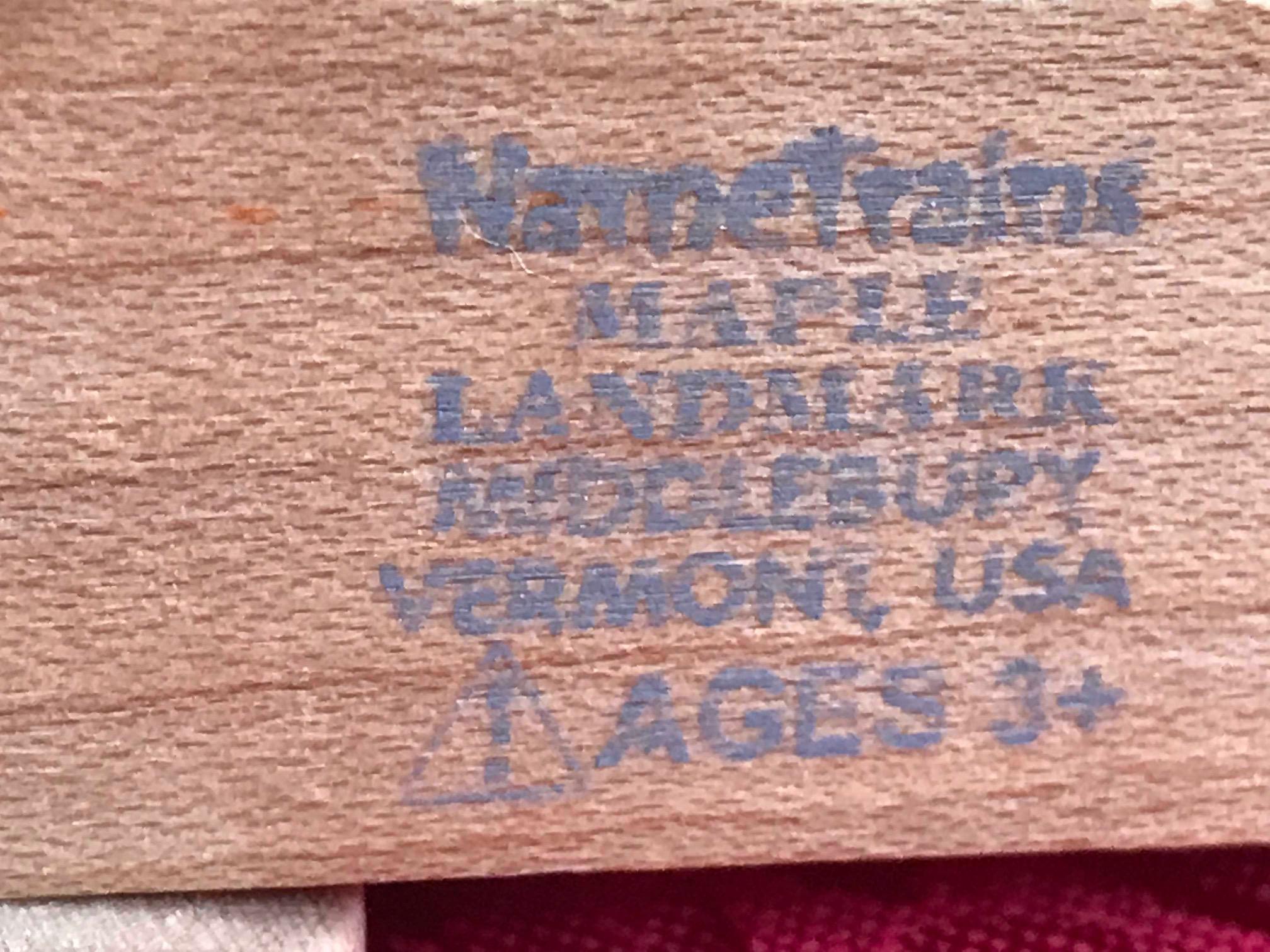 Maple Landmark Wooden Magnetic Train: Lead-Free, Cadmium-Free, Arsenic-Free, Mercury-Free! #SaferChoice