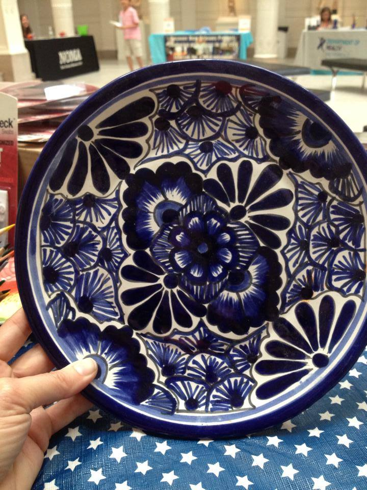 Made In Mexico Blue And White Glazed Ceramic Plate: 95,000 ppm Lead. [For context; 90 ppm Lead is unsafe in kids toys.]
