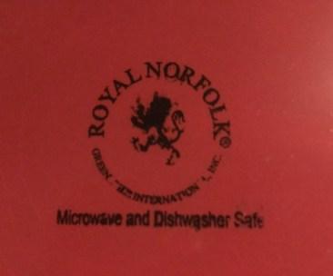 Dollar Tree Store Royal Norfolk Burgundy Ceramic Plate: 339 ppm Lead + 52 ppm Cadmium