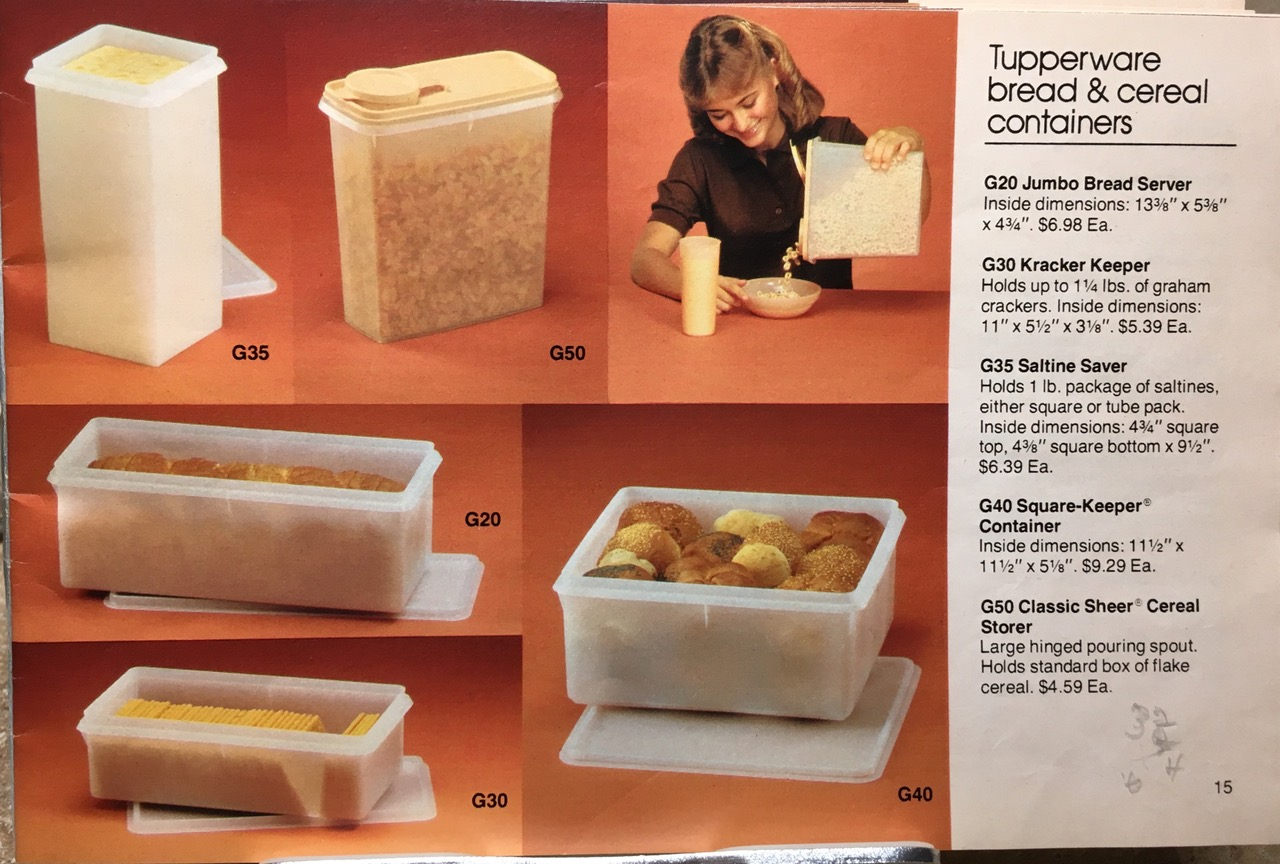 1982 Tupperware Bread and Cereal Containers Clear Toxic Tupperware Lead Safe Mama