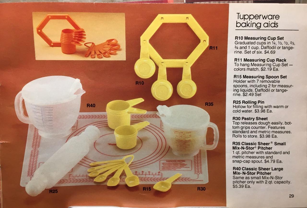 1982 Tupperware Baking Aids Toxic Tupperware Lead Safe Mama