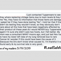 Tupperware Post Comment Lead Safe Mama