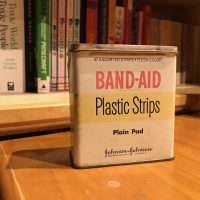 Vintage Band-Aid Tin Lead Safe Mama 1