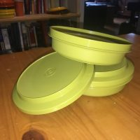 Vintage Green Tupperware Snap Top Bowl Lead Safe Mama 1