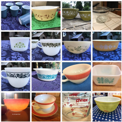 """""""How much Lead is in my vintage Pyrex?"""" Here are pictures of each one I've tested, with links to test results."""
