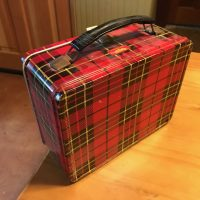 Vintage Red Plaid Thermos Brand Lunchbox Lead Safe Mama 2