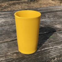 Yellow Tupperware Cup Short Tamara Rubin Lead Safe Mama 1
