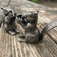 2016 2017 Pottery Barn Pewter Meta; Squirrel Salt and Pepper Shakers Lead Safe Mama 3