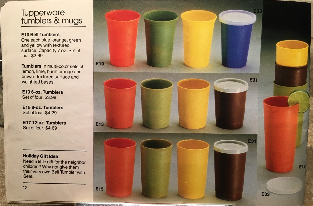 Another vintage Tupperware product to avoid, a child's cup! 876 ppm Lead + 331 ppm Cadmium + 87 ppm Arsenic.