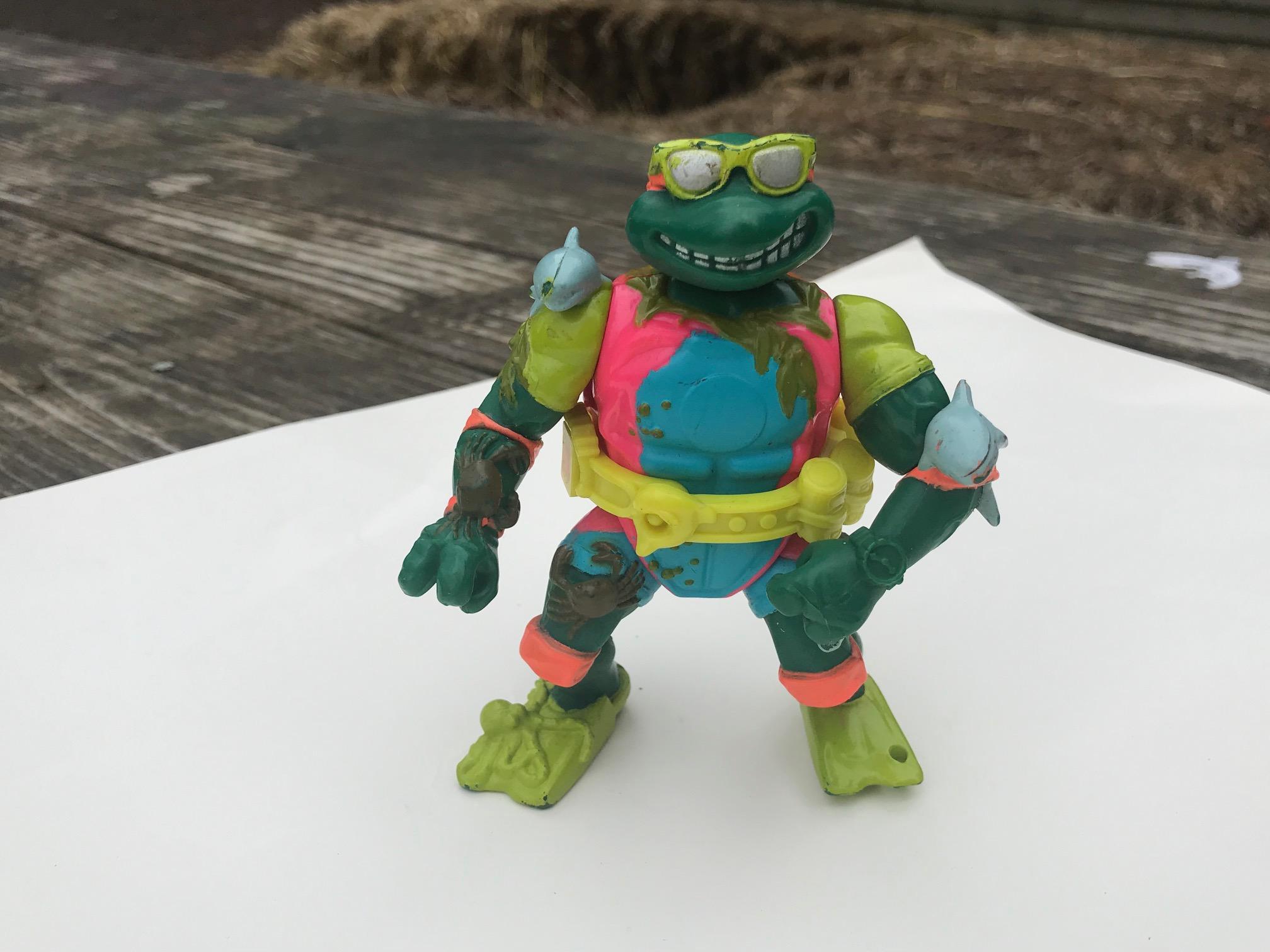 1990 Mirage Studios Playmates Toys Teenage Mutant Ninja Turtle Figurine: Lead Free, Cadmium Free, Arsenic Free!