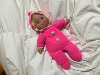 Vintage doll with beanbag body: 2,694 ppm Lead (90 is too much), 1,259 ppm Cadmium (40 is too much), + 491 ppm... MERCURY!