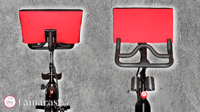 Front and Back DIY Peloton Cover with free sewing pattern