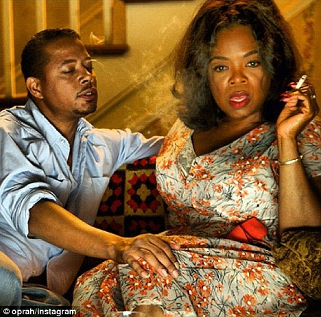 Oprah Winfrey on the Set of The Butler