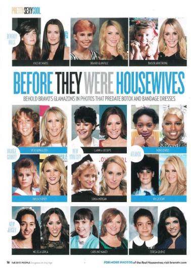 Real Housewives Before Surgery