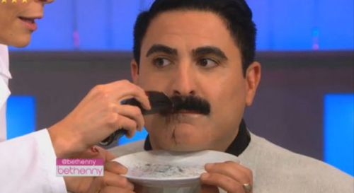 Last time Reza shaved his mustache  was in January 2014. Until recently.