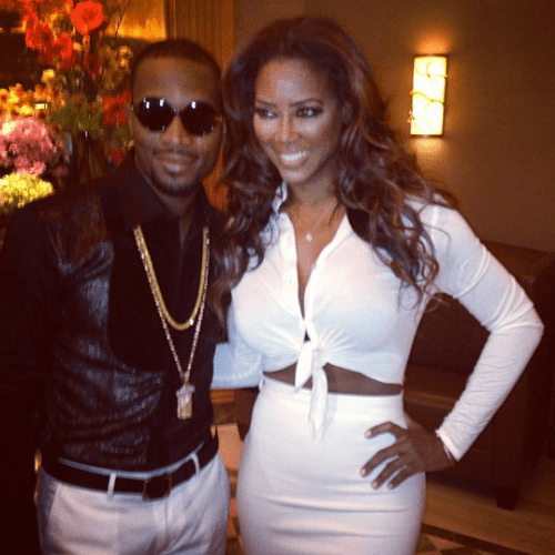 Kenya Moore and D'Banj