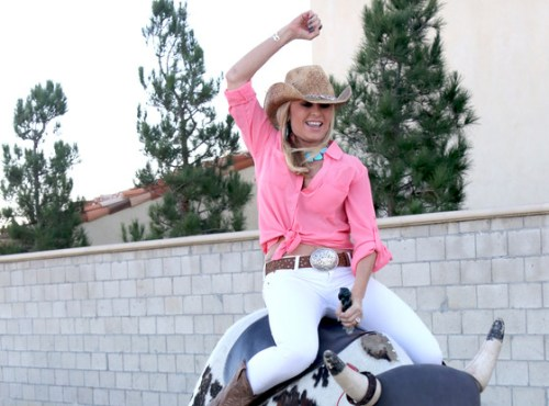 I heard a rumor today that someone heard Heather say to turn up the bull!  LOLOL